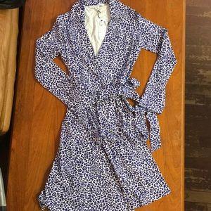 Diane von Furstenberg Jeanne 2 Stretch Wrap Dress